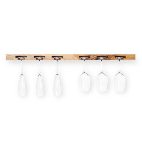 MODEL B12 glass rack – one piece ash wood