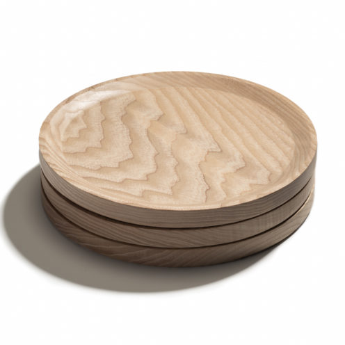 BEST plate – set of 3 circle ash plates in cool-toned oil coating