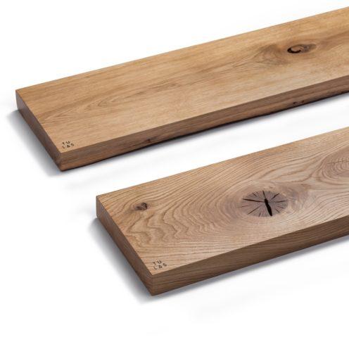 MODEL B0 floating shelf, one piece oak wood