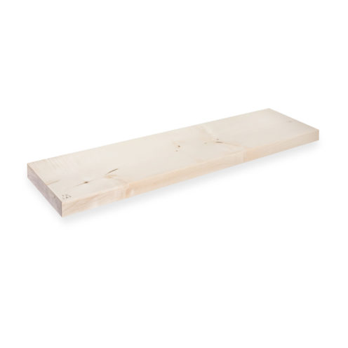 MODEL B0 floating shelf, one piece sycamore wood