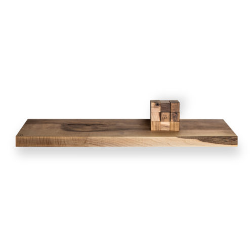 MODEL B0 floating shelf, one piece walnut wood