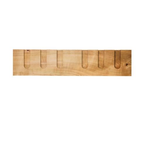 MODEL B12 glass rack, one piece wild cherry wood