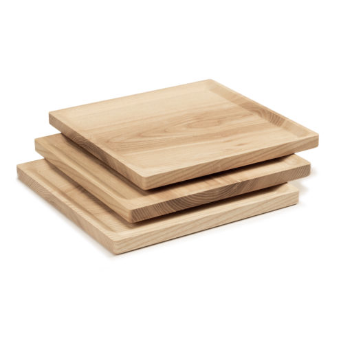 BEST plate – set of 3 square ash plates in cold oil coating