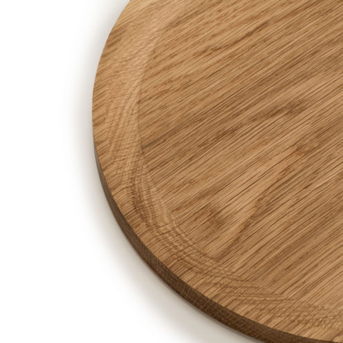 BEST plate – set of 3 circle oak plates in warm-toned oil coating