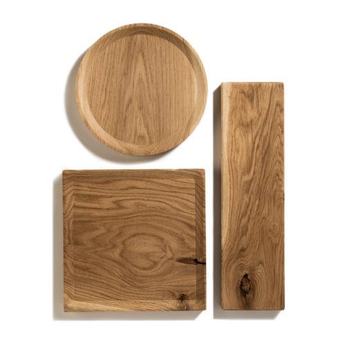 BEST plate – set of 3 long oak plates in warm-toned oil coating