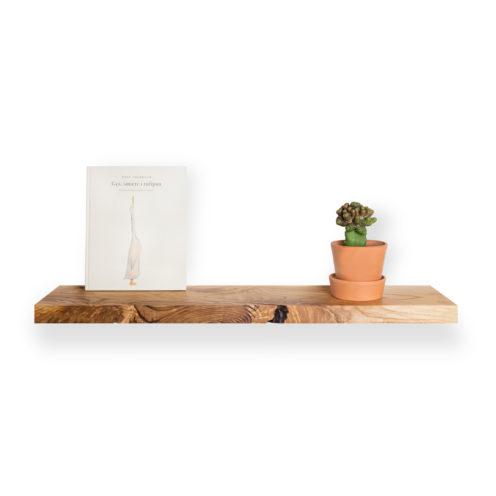 MODEL B0 floating shelf – one piece ash wood