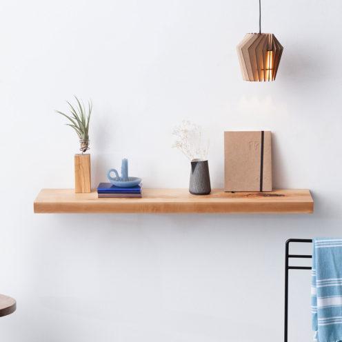 MODEL B0 floating shelf, one piece pear wood